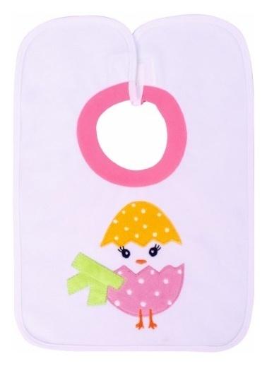 Sevi Bebe Sevi Bebe Yapışkanlı Havlu Önlük  Civciv Renkli